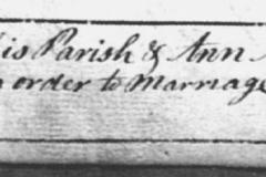 John & Ann Mitchel Wedding 3/1784