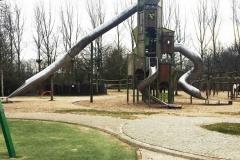 Children's playground and giant slide